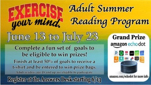 Safety Harbor Library's Summer Reading Contest for Adults