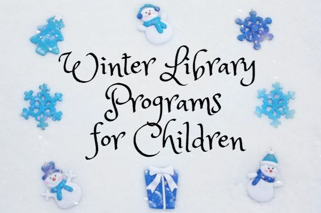 winter library programs for children on canva