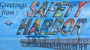 Greetings from Safety Harbor Postcard Art at Safety Harbor Marina