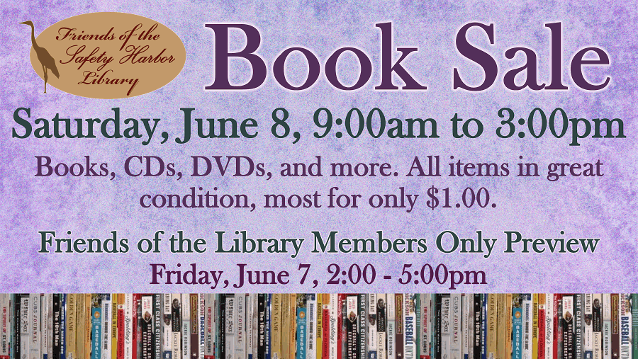 Book Sale - Saturday, June 8, 9am-3pm