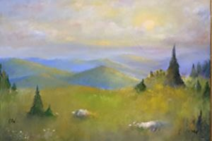 Marilyn Wickstrom Painting of Landscape