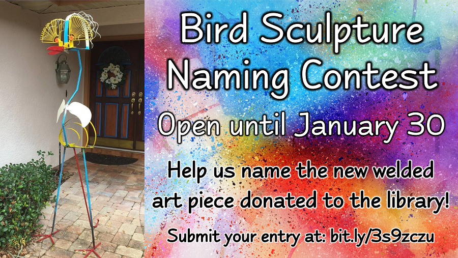 Bird Sculpture Naming Contest - Open until January 30