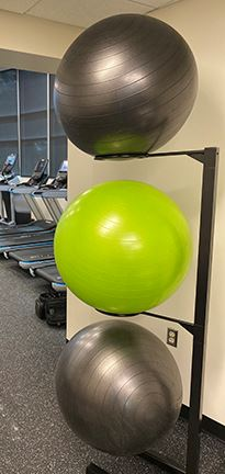3 exercise balls in Safety Harbor Fitness Center