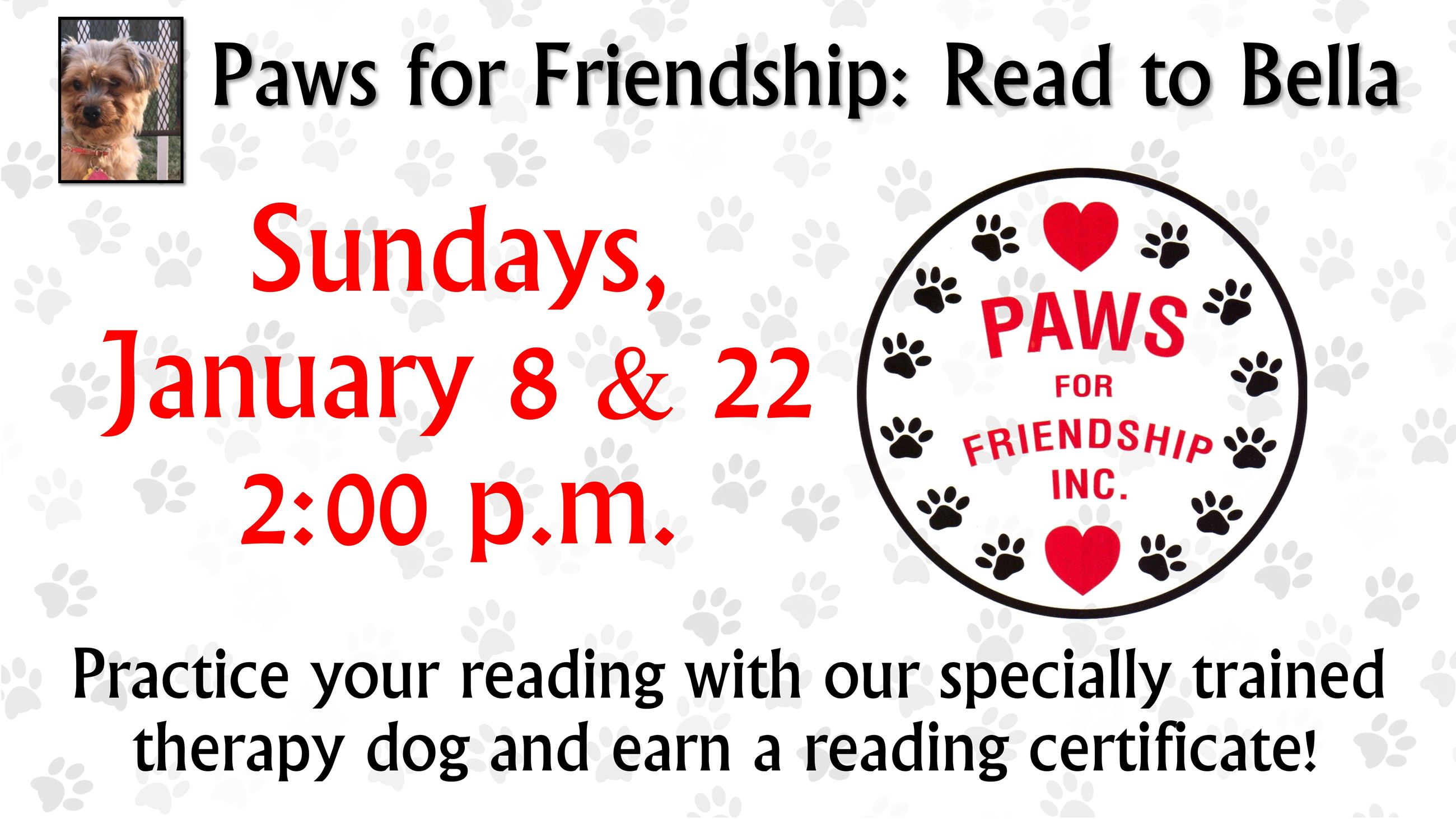 Paws for Friendship Read to Bella