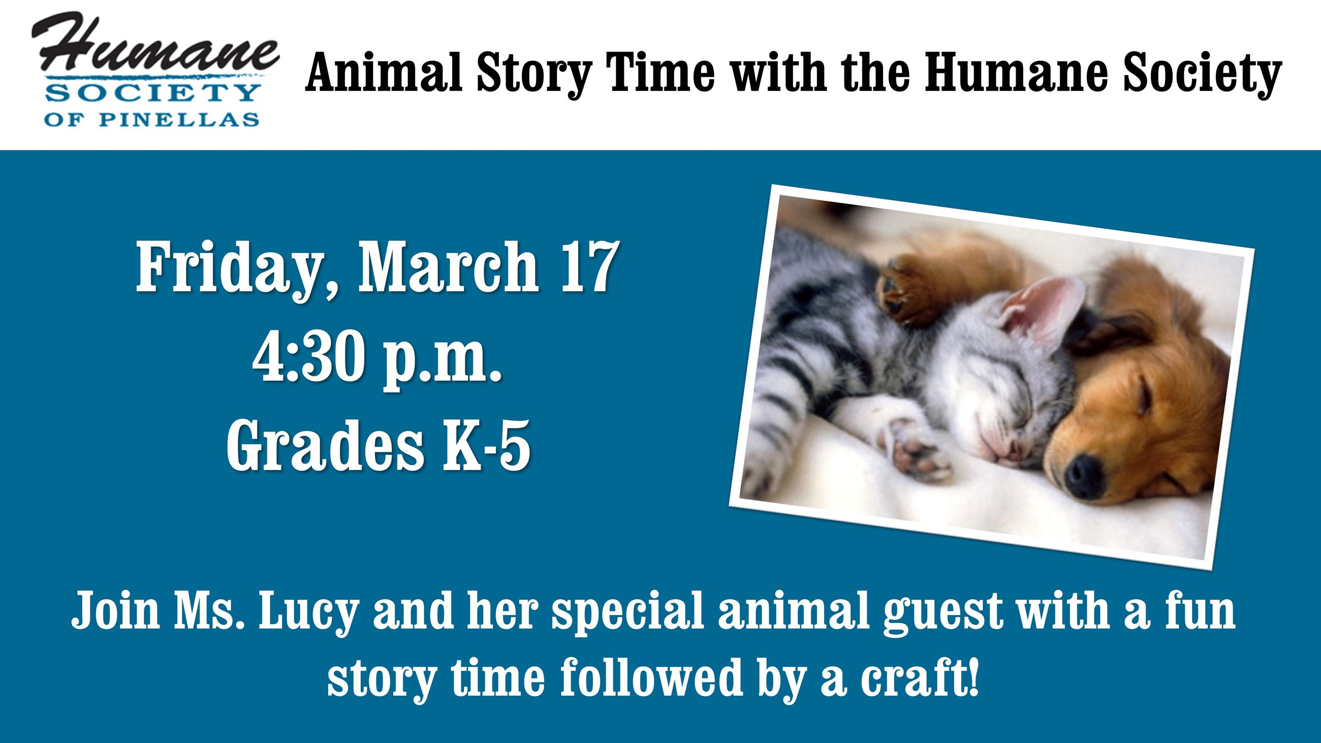 Humane Society Story Time