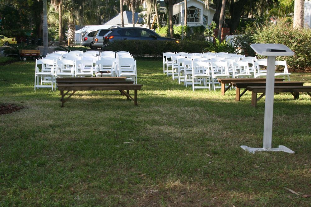 Outside Wedding Set Up 3