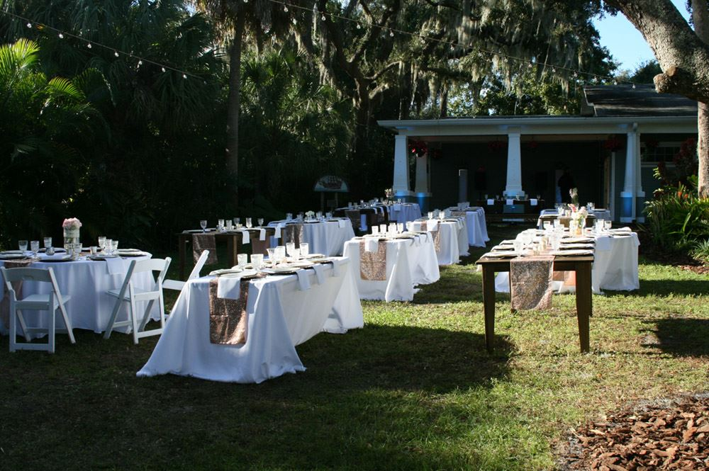 Outside Wedding Set Up
