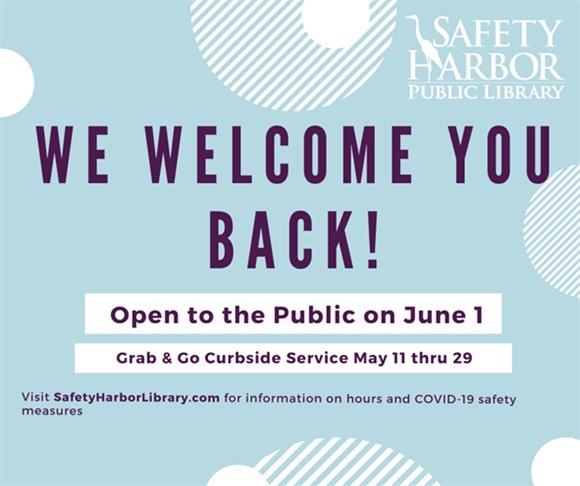 We Welcome You Back! Open to the Public on June 1