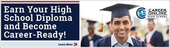 Earn your high school diploma!