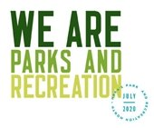 NRPA's Park and Recreation Month Logo: We are Parks and Recreation July 2020