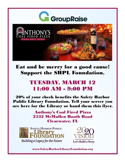 Eat for a Cause - March 12 - Anthony's Coal Fired Pizza