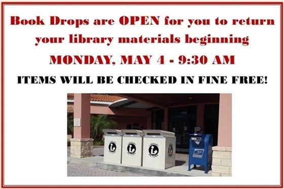Book Drops are open