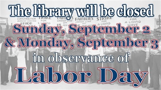 Happy Labor Day! We will be closed September 2nd and 3rd!