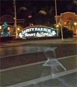 bury imagine in front of Safety Harbor Spa. Possibly a ghost.