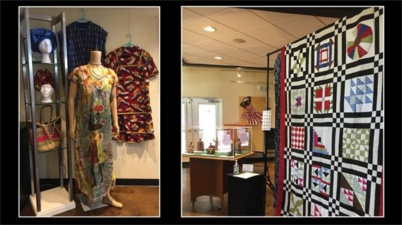 African American Cultural Clothing and Accessories, and handmade quilt
