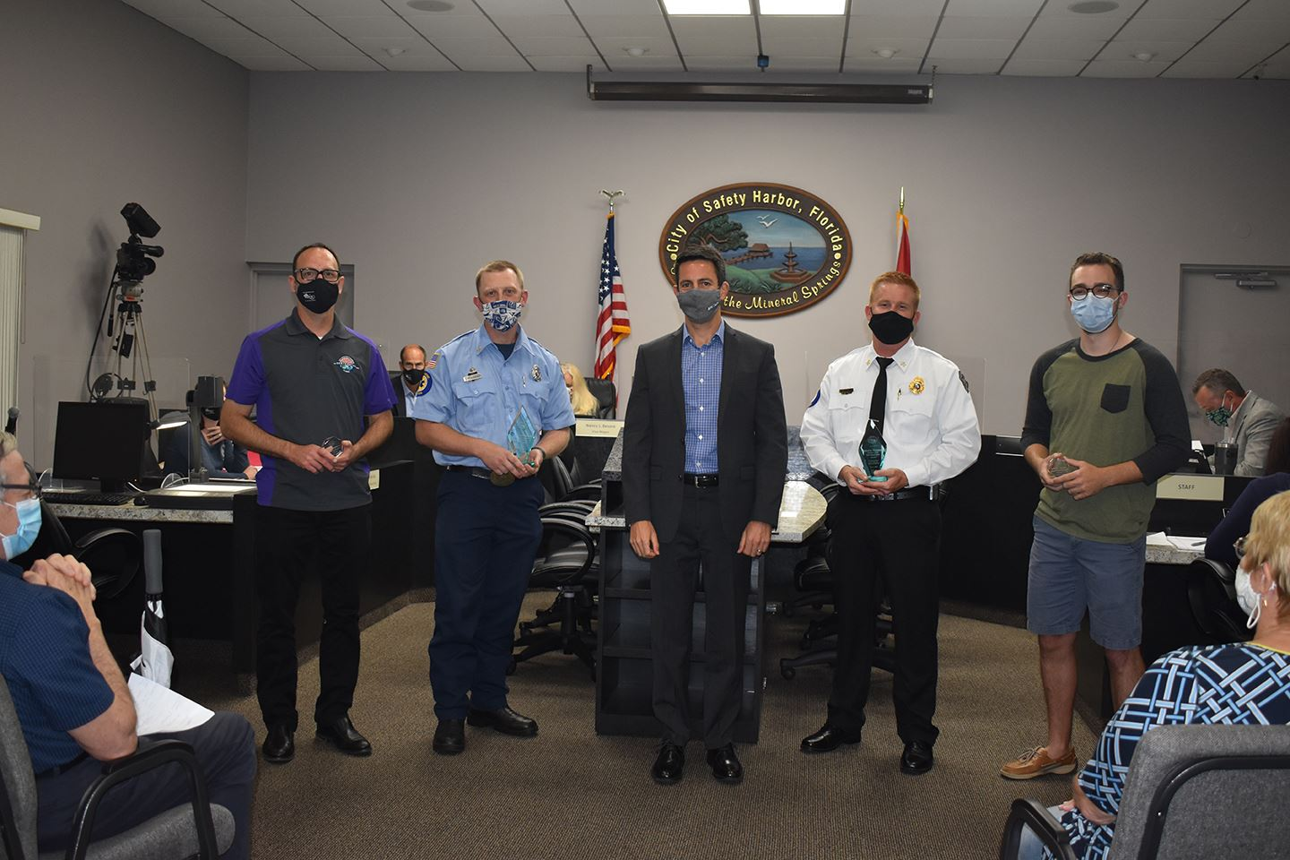 City of Safety Harbor Employees recognized at Commission meeting for years of service